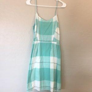 Old navy green plaid dress